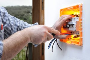 Ajax electrician repairs residential electrical panel