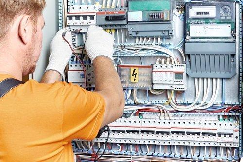 Ajax Electrical engineer working on Industrial site