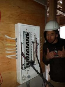 ajax certified electrician two thumbs up