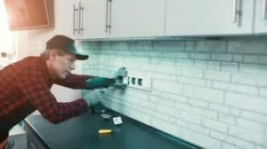 Ajax residential electrician fixing outlet
