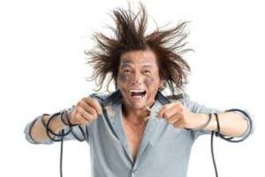 electrocuted man