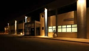 commercial electrician project outdoor lighting
