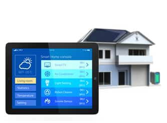 tablet used for smart homes